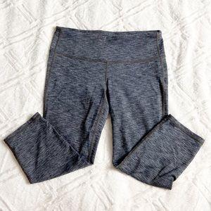Athleta Chaturanga Capri Heathered Grey Crop